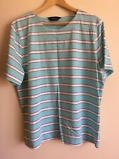 GIVONI STRIPED T-SHIRT, SIZE 18, SHORT SLEEVES