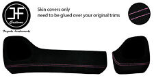 PINK STITCH TWO PIECE DASH KIT TRIM SUEDE COVERS FOR TOYOTA AYGO 2014-2019