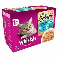 Whiskas 1+ Cat Pouch Pure Delight Fish in Jelly 12 x 85g - 262124