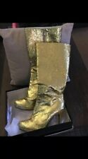 Ellie Shoes Women's 421-Zara Boot, Gold, 11 M US