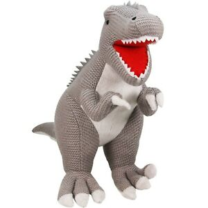 "Palz Knitted Dinosaur Tyrannosaurus Rex (T-Rex) - Small 12""/30cm Kids Soft Toy"