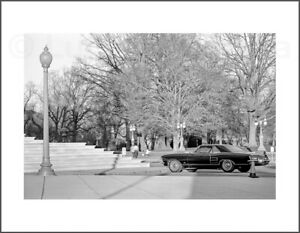 Black and White Photograph - Sportscar on the Mall -  8.5X11 Archival Print