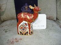Royal Crown Derby SHERWOOD FAWN 1st quality Limited Edition + BOX