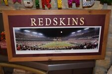 WASHINGTON REDSKINS CEDAR PANORAMIC FRAMED PRINT MATTED LETTERED END ZONE