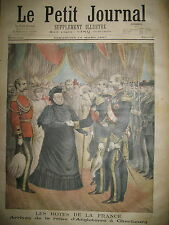 REINE VICTORIA ANGLETERRE A CHERBOURG LE PETIT JOURNAL 1897