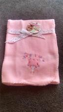 """Baby Blankets: NWT NUBY Cuddly Soft Pink """"SWEETHEART"""" Fleece CAT Snuggle Blanket"""