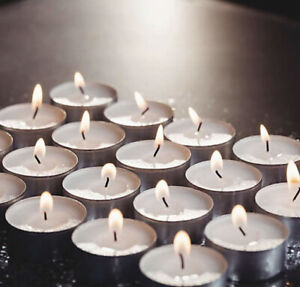 Tea lights 4-Hours 100-Count Unscented Candles in White | Sealed Package