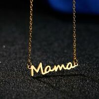 New Elegant Stainless Steel MAMA Child Love Pendant Necklace Mother's Day Gifts