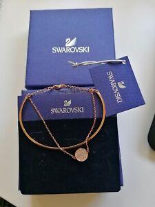 Genuine Swarovski Ginger Rose Gold Plated & Clear Bracelet Bangle