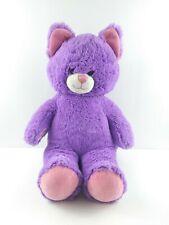 "Cat Plush 15"" Build A Bear Workshop Purple BAB Pink Stuffed Animal Kitty Toy"