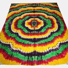 Colcha Edredón Bandhani batik algodón Tie Dye PAÑUELO Decoración India 1
