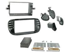 CT23FT13 Fiat 500 on Double Din Stereo Facia Kit Black