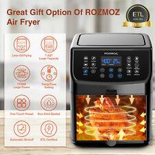 Rozmoz Air Fryer Xl 5 Qt 1700W 100 Recipes Works Genuine Oil-Less Multicooker