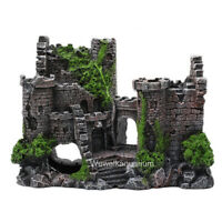 Great Wall Ruins Aquarium Ornament Fish Tank Decorations Decor Resin Aquascape