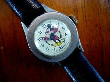 vintage wind up WDP WALT DISNEY goldtone case MICKEY MOUSE watch RUNNING