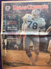 """ NFL Dallas Cowboys Official Weekly Magazine November, 14, 1981; Vol. 7, No.22"