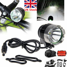 15000Lm CREE XML T6 LED Bicycle Bike Cycling Head Tail Light Lamp Torch Headlamp