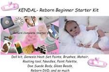 Reborn KENDAL Baby Doll Complete Starter Beginner Kit, Genesis paints, Mohair NR