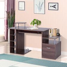 HOMCOM Computertisch Schreibtisch Bürotisch PC Tisch Arbeitstisch Kombitisch Neu