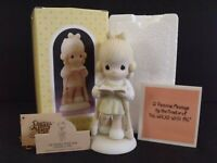 """PRECIOUS MOMENTS """"HE WALKS WITH ME"""" - #107999 - NEW IN BOX"""