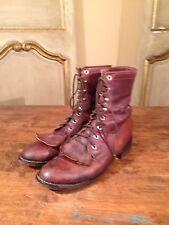 Vintage Tony Lama Engineering Cowboy Riding Boots Womens Size 7 B