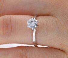 Vintage compromiso anillo 0,65 quilates solitario brillante 585 blanco oro 14 quilates