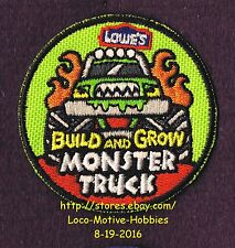 LMH PATCH Badge  2011 MONSTER TRUCK  4x4 6x6 Pickup LOWES Build Grow Kids Clinic