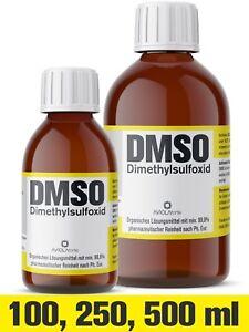 DMSO, Dimethylsulfoxid, über 99,9% laborrein (Ph Eur), Glasflasche [100-500 ml]