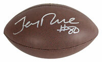 49ers Jerry Rice Authentic Signed Wilson Super Grip NFL Football BAS Witnessed