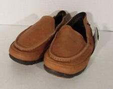 $85 Crocs Mens Stretch Sole Leather Loafer Shoes, Hazelnut/Espresso, US 8