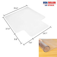 """PVC Matte Home-use Protective Mat for Floor Chair Transparent 47.36x35.35x0.06"""""""