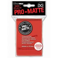 ULTRA PRO 50 PRO MATTE-STANDARD DECK PROTECTOR SLEEVES RED 82650 FOR MAGIC