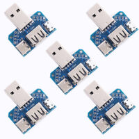 5Pc USB Converter Standard USB Female to Male to Micro USB to 4P Terminal 2.54mm