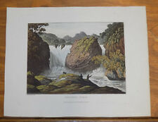 1821 Print, Aquatint Tour of English Lakes///SKELWITH FORCE, A WATERFALL
