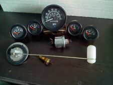 Gauges Kit- 85 mm Speedometer+ 52 mm (Elec Temp +Oil +Fuel+ Volt )+ Senders Blk