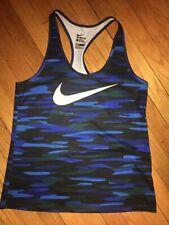 Nwot Nike Dry Dri-Fit Training Tank Top Size Large Blue Camo