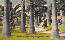 Tucson~University of Arizona Campus~Co-ed Carries Load of Books~Library~1942 PC