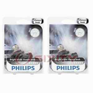 2 pc Philips High Beam Headlight Bulbs for Cadillac 60 Special DeVille lw