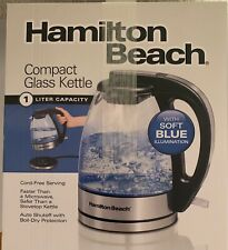 Hamilton Beach Electric Glass Kettle - Black - NEW
