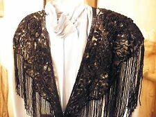 SEQUIN SHAWL WRAP FORMAL GLITTERING JET BLACK / MOTHERS DAY / CHRISTMAS GIFT NEW