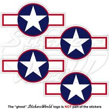 United States USAAF Aircraft Roundel 1943 USAF NAVY WW2 Decals 70mm x4 Stickers