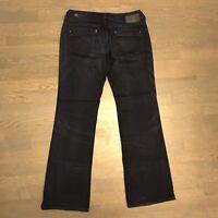 DIESEL INDUSTRY RONHAR Bootcut Stretch Denim Jeans Dark Wash Woman's Size 29