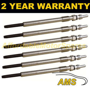 6X DIESEL HEATER GLOW PLUGS FOR CHRYSLER JEEP MERCEDES 3.0 CDI  DUAL CORE