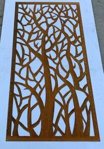 Decorative Metal Art Tree 295 X 590 Corten Picture Screen NOR27 300mm