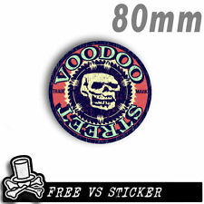 HOT ROD DECAL, SKULL, OLD SKOOL, Voodoo Street, waterproof, quality print, Nice!