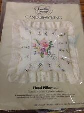 1984 Something Special Candlewicking Floral Pillow 80144 Lace and Ruffle Kit
