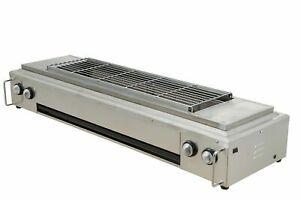 Commercial Heavy Duty 8 Gas Burners Smokeless Kebab Skewer BBQ Grill Machine