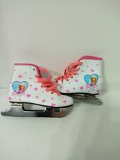 Vintage Barbie For Girls Brookfield Ice Skates White & Pink Size 11