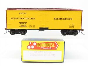 HO Scale Roundhouse 3196 SRLX Swift 36' Meat Reefer #4558 (Yellow)