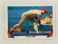 Mike Williams Philadelphia Phillies 1993 Topps Baseball Card 99